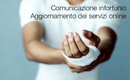 Comunicazione di infortunio   Aggiornamento dei servizi online