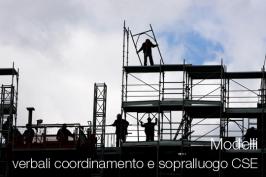 Modelli Verbali coordinamento e sopralluogo CSE