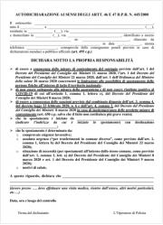 D.P.C.M. 08 marzo 2020 | Nuovo modulo di autocertificazione spostamenti | 23.03.2020