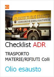 Checklist ADR Trasporto Materie/Rifiuti pericolosi in regime ADR - Colli