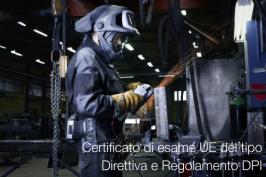 Certificato esame UE del tipo DPI: Direttiva 89/686/CEE e Regolamento (UE) 2016/425