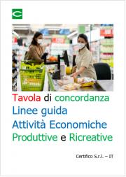 Tavola di concordanza Linee guida Attività Economiche Produttive e Ricreative