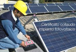 Certificato collaudo impianto fotovoltaico