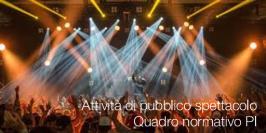 Attività pubblico spettacolo: Quadro normativo PI