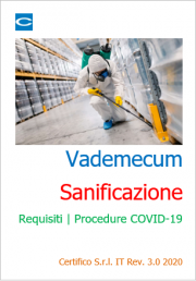 Vademecum Sanificazione Requisiti | Procedure COVID-19