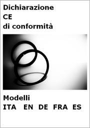 Modelli Dichiarazione CE Conformità in lingua: ITA | EN | DE| FRA | ES