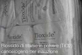 Biossido di titanio in polvere (TiO2): cancerogeno per inalazione ECHA