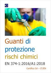 Guanti di protezione rischi chimici - EN 374-1:2016/A1:2018