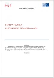 Scheda Tecnica responsabili sicurezza laser