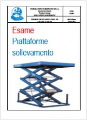 Esame approfondito di piattaforme elevabili EN 1570-1