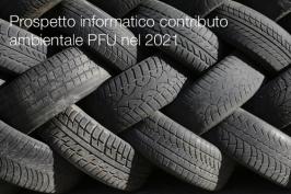 Prospetto informatico contributo ambientale PFU nel 2021