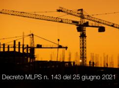 Decreto MLPS n. 143 del 25 giugno 2021
