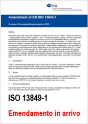 EN ISO 13849-1 Edizione 2015 in arrivo (Emendamento 1)