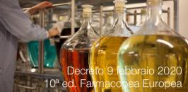 Decreto 9 febbraio 2020  | 10ª edizione della Farmacopea Europea