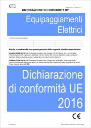 Dichiarazione di Conformita' UE BT/EMC Equipaggiamenti elettrici 2016