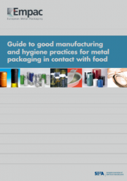 Guide GM and HP metal packaging in contact with food