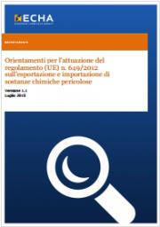 Orientamenti per l'attuazione del regolamento PIC