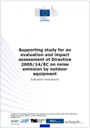 Evaluation and impact assessment of Directive 2000/14/EC (OND)
