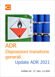 ADR: Disposizioni transitorie