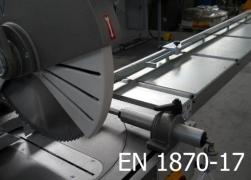 Decisione di esecuzione (UE) 2015/16: EN 1870-17 Troncatrici radiali