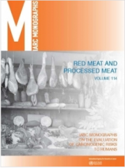 IARC Monographs Volume 114: Carne rossa e trasformata (classe 2A e 1)