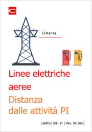 Linee elettriche aeree: le distanze dalle attività PI
