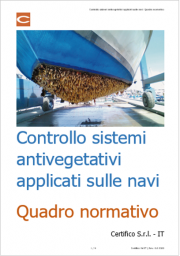 Controllo sistemi antivegetativi applicati sulle navi   Quadro normativo