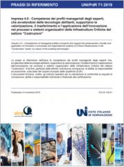 UNI/PdR 71:2019 | Impresa 4.0 profili esperti settore Costruzioni