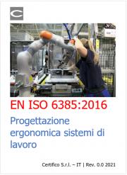 EN ISO 6385:2016   Progettazione ergonomica sistemi di lavoro