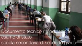Documento tecnico rimodulazione esame di stato scuola secondaria di secondo grado