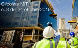 Circolare MIT n. 8 del 24 ottobre 2019