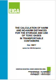 Calculation of Harm and No-Harm Distances storage and use of toxic gases in transportable containers