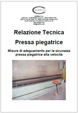 Relazione adeguamento presse piegatrici alta velocità