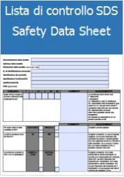 Lista di controllo delle schede di dati di sicurezza (SDS)