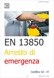 EN ISO 13850 Arresto di emergenza