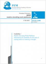 Guideline FEM | Mobile Elevating Work Platform