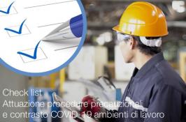 Check list Ambienti di lavoro - Attuazione procedure precauzionali e contrasto COVID