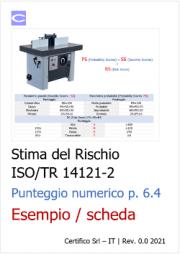 Stima del rischio ISO/TR 14121-2 p. 6.4 Punteggio numerico - Esempio e scheda
