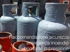 Procedura emergenza incendio bombole in pressione