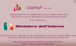 ClaRaf V. 3.0: Classificazione di Resistenza fuoco costruzioni VVF