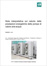 Nota Interpretativa CTI Pompe di Calore del 30 Giugno 2021