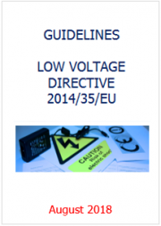 Guidelines LVD 2014/35/EU - August 2018