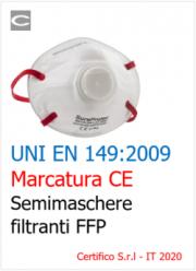 UNI EN 149:2009 | Marcatura CE semimaschere filtranti FFP