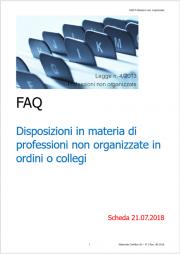 FAQ Professioni non organizzate