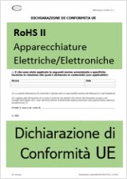 Dichiarazione UE di Conformità RoHS II - Modello