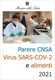 Parere CNSA - Virus SARS-COV-2 e alimenti