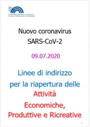 Linee di indirizzo riapertura Attività Economiche, Produttive e Ricreative | 09.07.2020