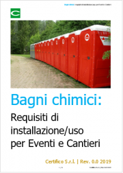 Bagni chimici: requisiti di installazione/uso per Eventi e Cantieri