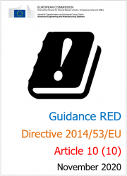 Guidance on Article 10 (10) of RED (Directive 2014/53/EU)