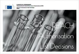 REACH Authorisation Decisions List | Last update 01.10.2020